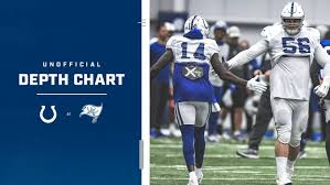 Arizona Football Depth Chart Indianapolis Colts Release Unofficial Depth Chart For Week
