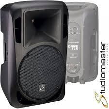 studiomaster drive 12a 1200w active powered full range pa speaker