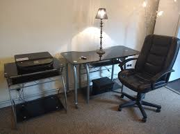 glass top office desk. Black Glass Top Office Desk, Table And Chair Desk I