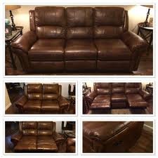 havertys payton cognac leather reclining sofa loveseat for in tampa fl offerup
