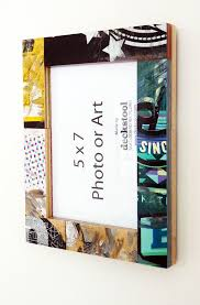 Picture Frame #026 for 5x7 photo. Made from Recycled Skateboards by  Deckstool. Cool Teen Skateboard Decor or Skater mom Gift