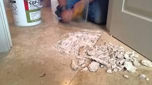 removing travertine tile part 1