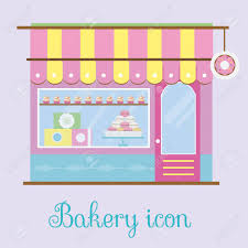 Bakery Facade View Bakehouse Icon Pastry Store Patisserie