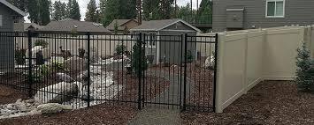 vinyl fence with metal gate. Vernam Iron Vinyl Fence With Metal Gate D