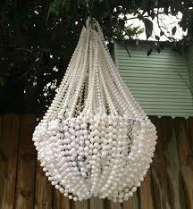 gorgeous outdoor chandelier diy diy mardi gras bead chandelier back bayou vintage