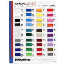 Sapphire Color Chart Enduragloss Vinyl Color Chart