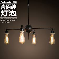 get ations kc lamps american minimalist spider edison light bulb chandelier wrought iron chandelier creative retro restaurant bar