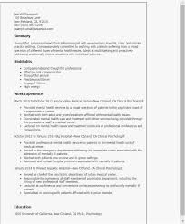 Psychology Resume Examples Adorable Therapist Resume Examples Examples Psychology Resume Examples