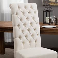 Small Picture Amazoncom Best Selling Natural Tall Tufted Dining Chair 2 Pack
