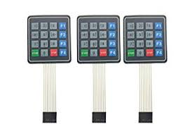 <b>3pcs</b> 4X4 16Keys Array <b>Membrane Switch</b> Keyboard Keypad ...