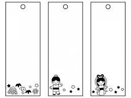 七夕の短冊織姫彦星七夕飾り白黒フレーム飾り枠イラスト 無料