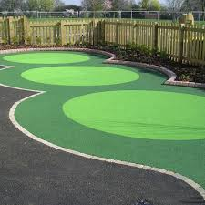 wetpour laid with roller w16