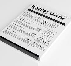 Standard Resume Template Docx Doc