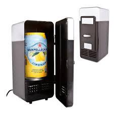 portable mini usb pc fridge car refrigerator heater drink cans beer juice warmer cooler desktop refrigerator