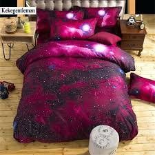 galaxy bedding sets twin queen size universe outer space themed bedspread bed linen sheets duvet cover