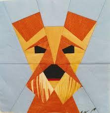 Dog Quilt Patterns Beauteous Dog Quilt Block Pattern Miniature Schnauzer Rustic Home Etsy