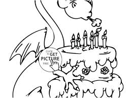Birthday Cake And Candles Coloring Page With 5 Happy Colouring Free