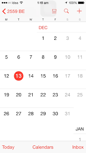 The Year Calendar Ios Calendar Showing Year As 2559 Be Ask Different