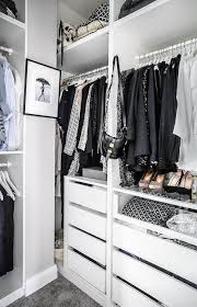 ikea closet design with see through drawer fronts