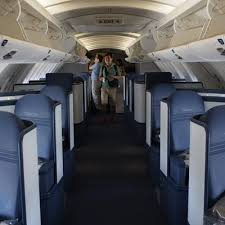 view of the reconfigured business elite upper deck cabin on delta s 747 400 very
