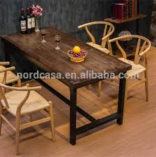 R American Country Style Vintage Industrial Furniture Old Dining Table  Recycled Wood