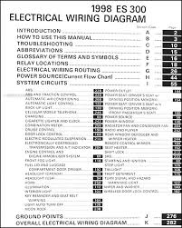 1998 lexus es 300 wiring diagram manual original