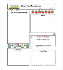 word document newsletter templates free classroom newsletter templates classroom newsletter template 9