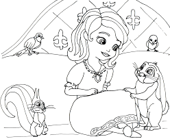 Sofia Coloring Pages Sofia First Coloring Pages Applique