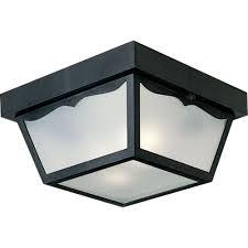 Hampton Bay Outdoor Ceiling Lighting Outdoor Lighting The - Black exterior light fixtures