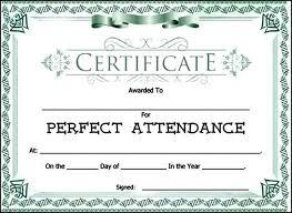 Attendance Award Template Attendance Award Certificate Template Sample Templates