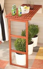 a standing bar for the deck