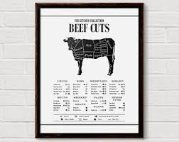 beef cuts diagram poster. Simple Diagram Beef Cuts Poster Butcher Print Cuts  Prints Beef Cut Print Kitchen Diagram Inside Poster T