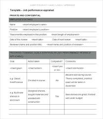 Performance Appraisal Form Format Fascinating Employee Evaluation Form Template Feedback Form Template Download