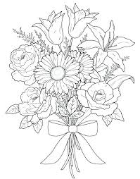 Free Garden Coloring Pages For Adults Coloring Pages Flower Flower