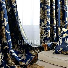 Navy Blue Patterned Curtains Delectable Fantastic Navy Blue Patterned Curtains Vintage Navy Blue Polyester