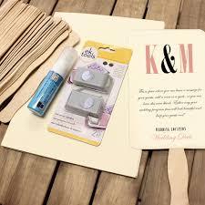 wedding program fan kit