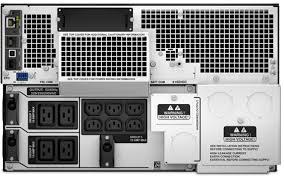 apc smart ups srt 8000va 230v rackmount srt8krmxli critical power supplies srt8krmxli front critical power supplies srt8krmxli rear image