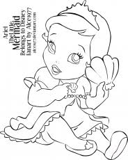 Small Picture Baby Mermaid Coloring Pages Coloring Page Coloring Home