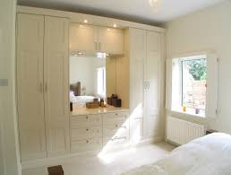 Bedroom Built In Closets Built In Sleek Wardrobe Completed With Dressers Two Tower Drawers