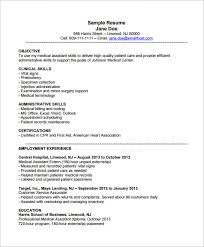 Medical Assistant Resume Templates Free Mesmerizing Resume Templates Medical Assistant Resume Templates Free