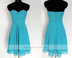 handmade sweetheart ruching bodice ocean blue bridesmaid dress l dress wedding party dress short prom dress homeing dress