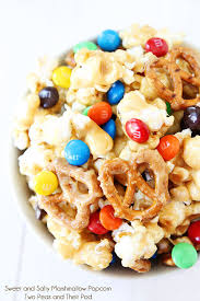 sweet and salty snacks. Exellent And Sweet And Salty Marshmallow Popcorn Recipe On Twopeasandtheirpodcom Love  This Sweet Salty Snack For And Snacks T