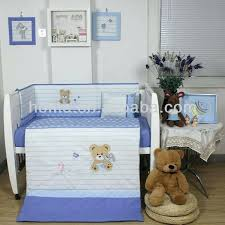 baby bear crib bedding sets awesome new design baby boys crib bedding sets with bear embroidery in color combination light blue and white crib bedding