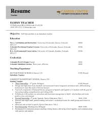 Student Teacher Resume Berathen Com Objective For English A Job Of