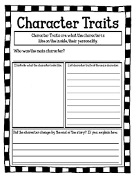 Character Change Anchor Chart Character Traits Character Change Worksheet