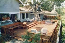Small Picture Cool Backyard Decking Designs with Small Backyard Deck Designs