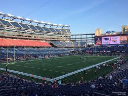 Gillette Stadium Section 139 New England Patriots
