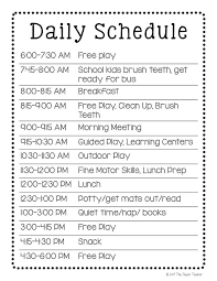 babysitting schedule template how to make a daycare schedule that works free template classroom
