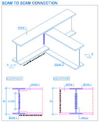 Beam To Beam Connection 1 In 2019 Steel Frame Construction