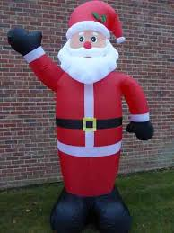 Large Inflatable Father Christmas Santa Decoration 240cm 8ft 8 LED Lights  Indoor Outdoor